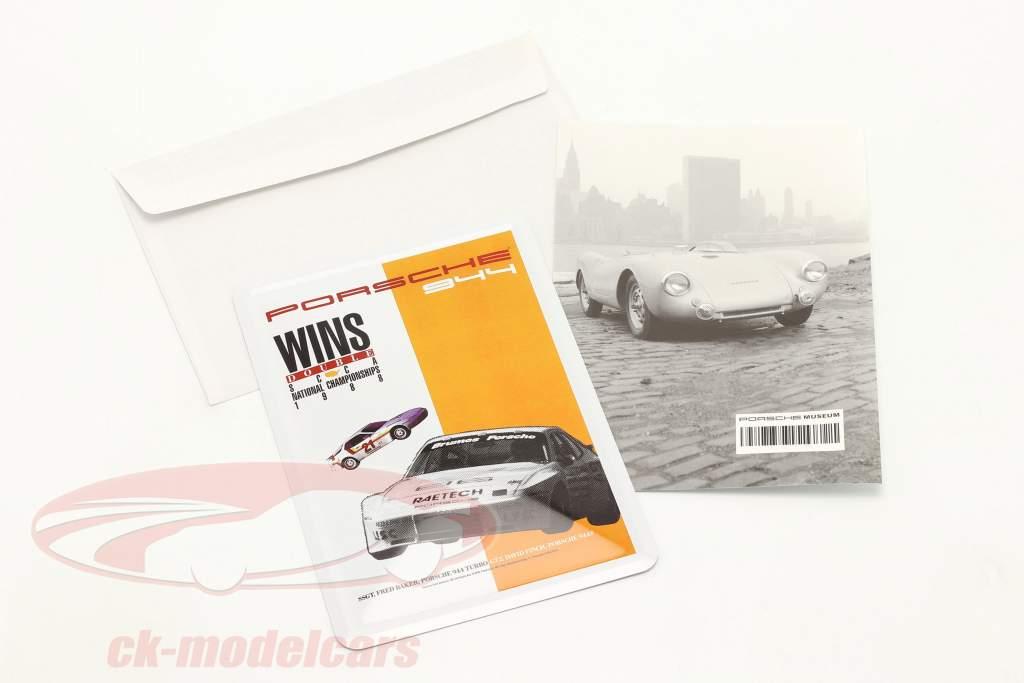 Porsche Carte postale en métal : Porsche 944 SCCA 1988