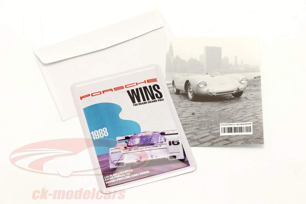 Porsche Cartolina di metallo: 3h Miami 1988