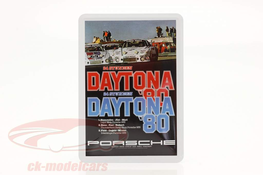 Porsche Carte postale en métal : 24h Daytona 1980