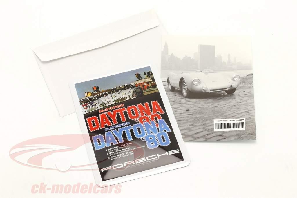 Porsche Metal postcard: 24h Daytona 1980