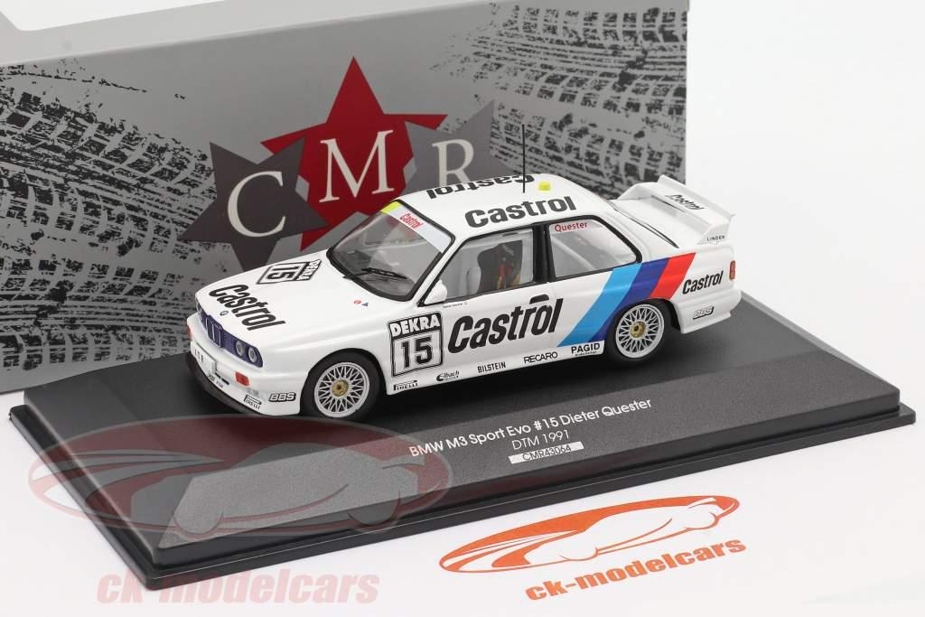 BMW M3 (E30) #15 DTM 1991 Dieter Quester 1:43 CMR