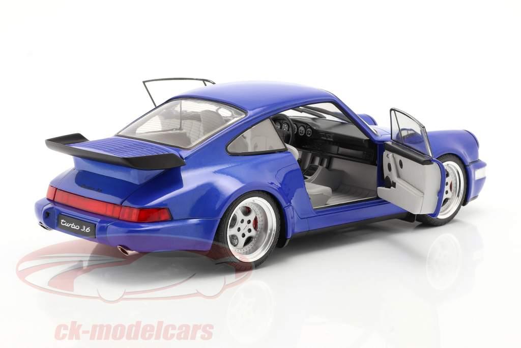 Porsche 911 (964) Turbo year 1990 electric blue 1:18 Solido