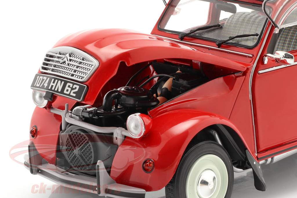 Citroen 2CV6 Anno di costruzione 1982 rosso 1:18 Solido