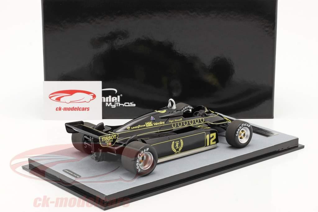 Nigel Mansell Lotus 91 #12 britânico GP Fórmula 1 1982 1:18 Tecnomodel