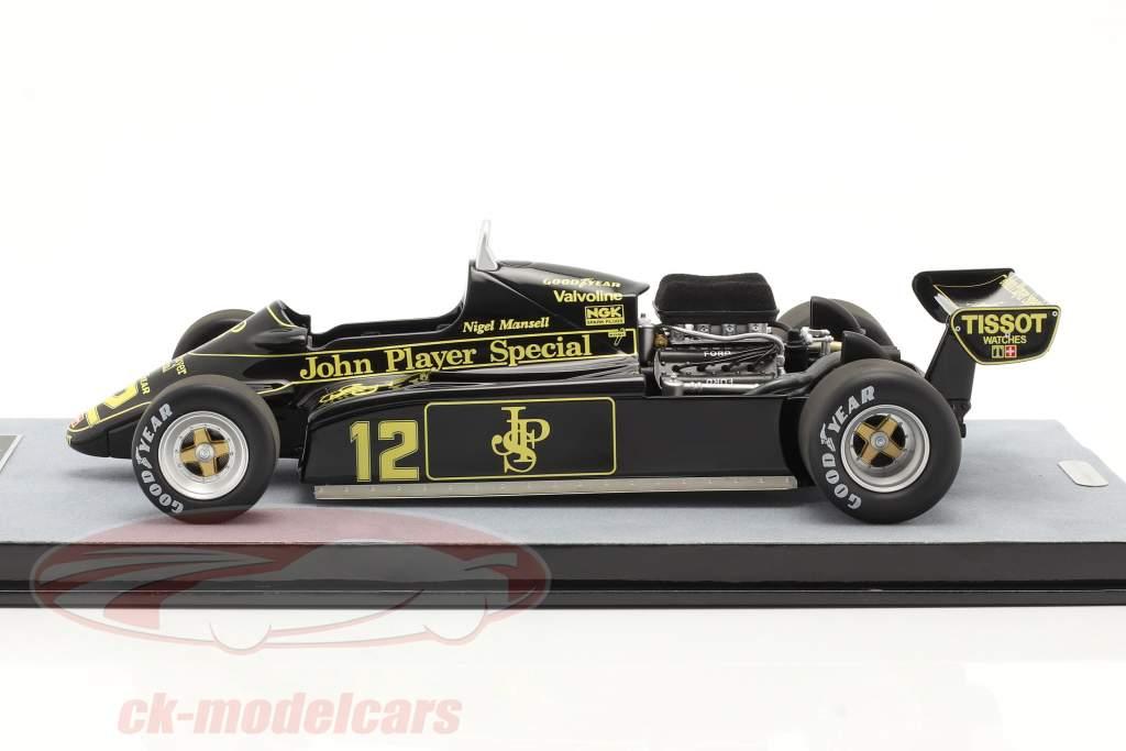Nigel Mansell Lotus 91 #12 Cuarto Mónaco GP fórmula 1 1982 1:18 Tecnomodel
