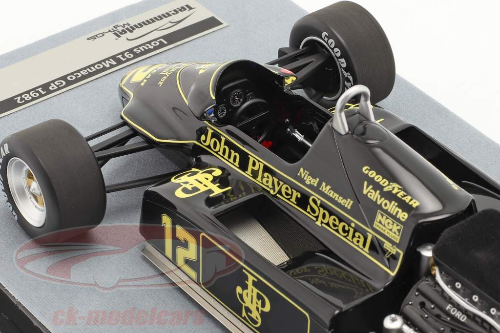 Nigel Mansell Lotus 91 #12 4. Monaco GP formel 1 1982 1:18 Tecnomodel