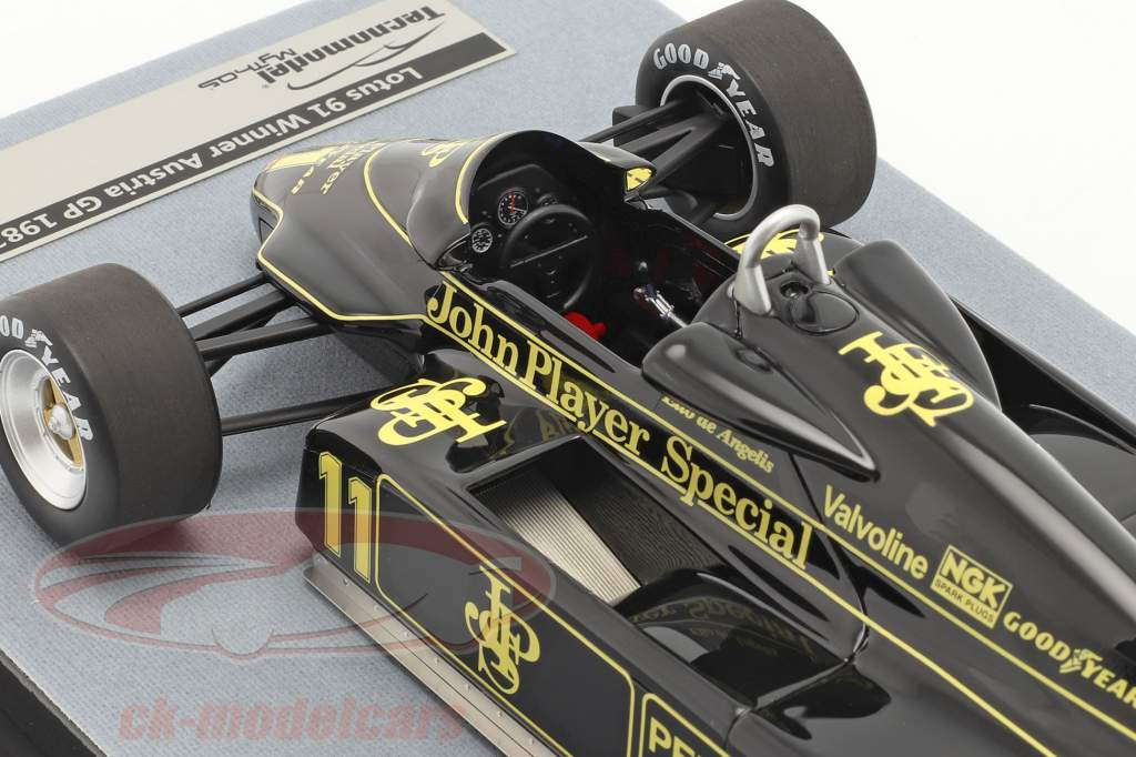 Elio de Angelis Lotus 91 #11 Vinder Østrigske GP formel 1 1982 1:18 Tecnomodel