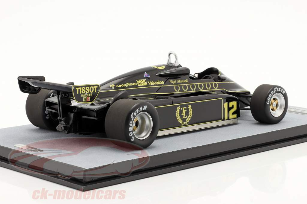 Nigel Mansell Lotus 91 #12 Brits GP formule 1 1982 1:18 Tecnomodel