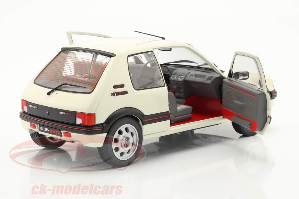 Peugeot 205 GTI 1.9L MK1 Año de construcción 1988 blanco 1:18 Solido