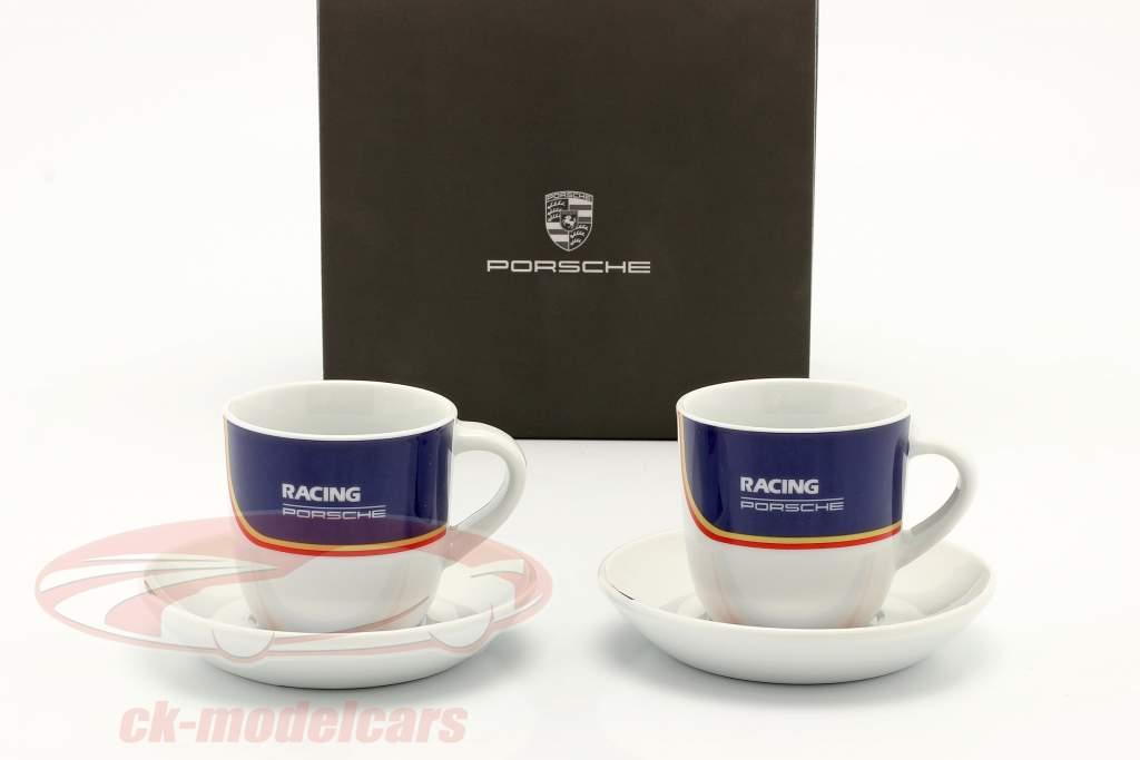 Tazas de expreso (set of 2) Porsche Racing azul / rojo / oro