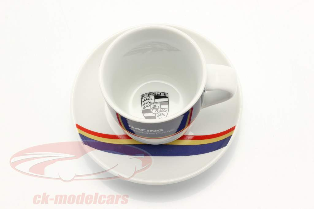 Espresso cups (set of 2) Porsche Racing blue / red / gold
