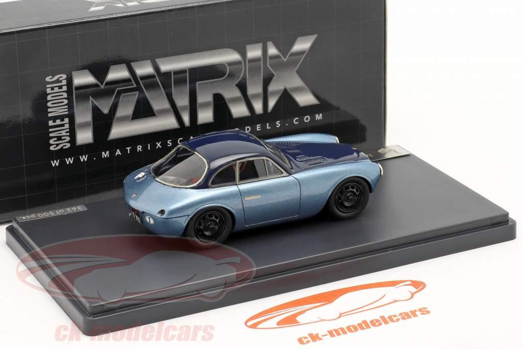 Moretti 750 Gran Sport Baujahr 1954 blau metallic 1:43 Matrix