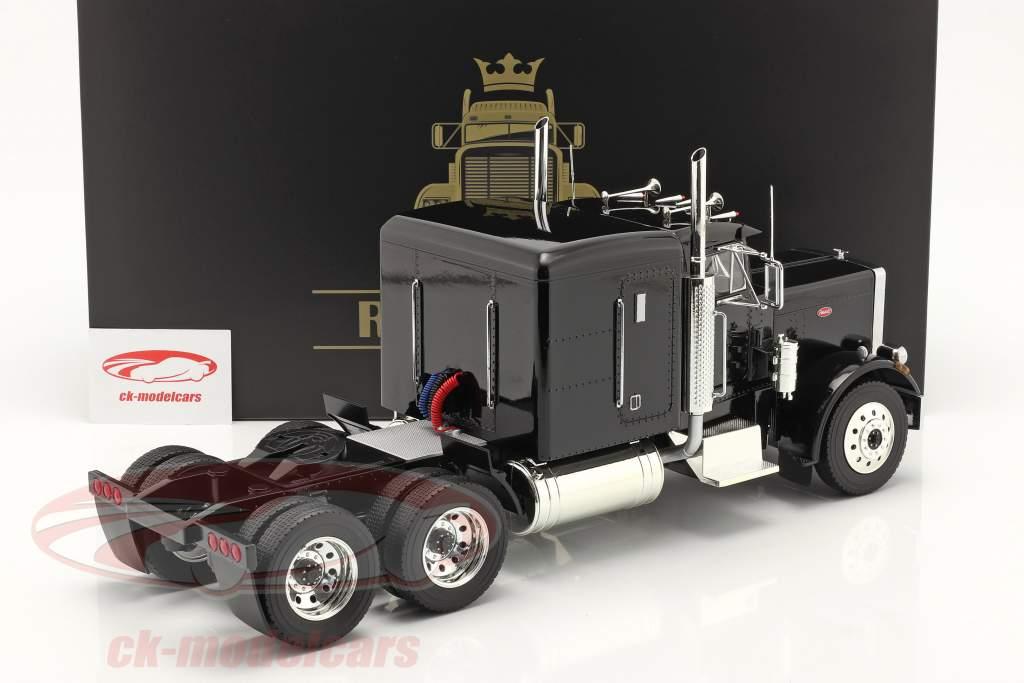 Peterbilt 359 Bull Nose Camion 1967 noir 1:18 Road Kings