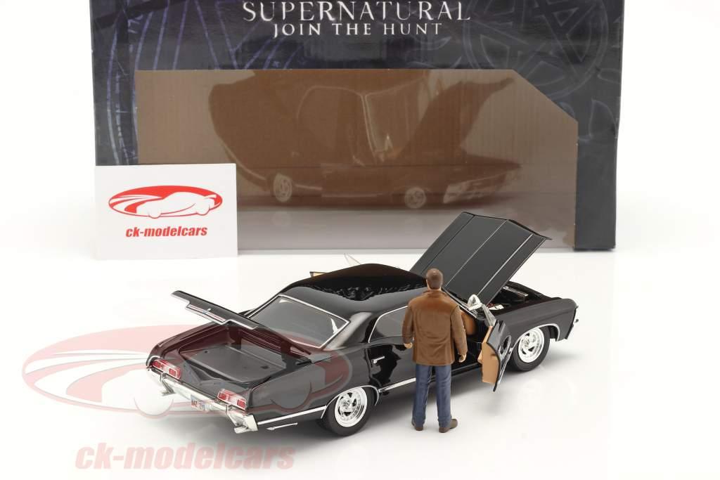 Chevy Impala SS Sport Sedan 1967 TV series Supernatural met figuur 1:24 Jada Toys