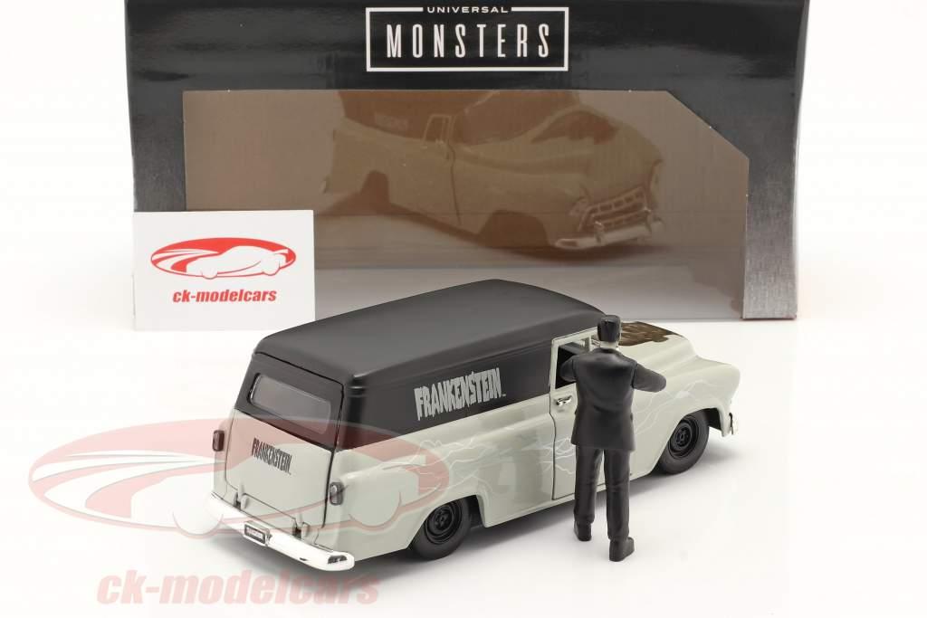 Chevy Suburban 1957 insieme a figura Frankenstein 1:24 Jada Toys