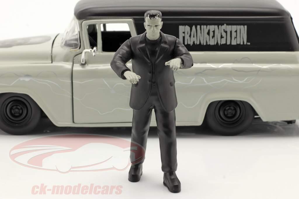 Chevy Suburban 1957 com figura Frankenstein 1:24 Jada Toys