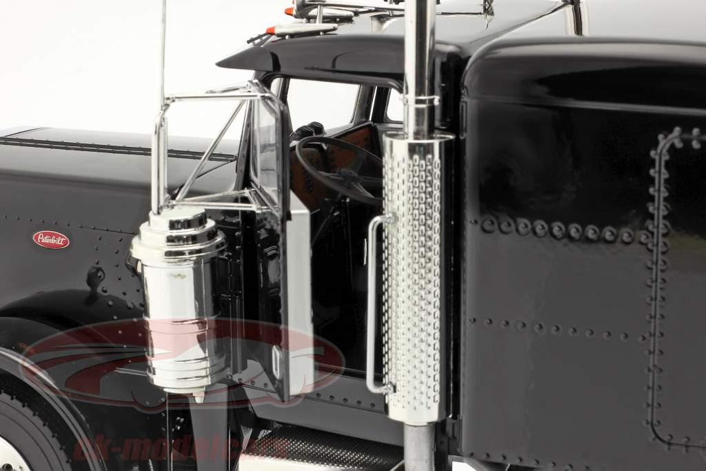 Peterbilt 359 Bull Nose Sattelzugmaschine 1967 schwarz 1:18 Road Kings