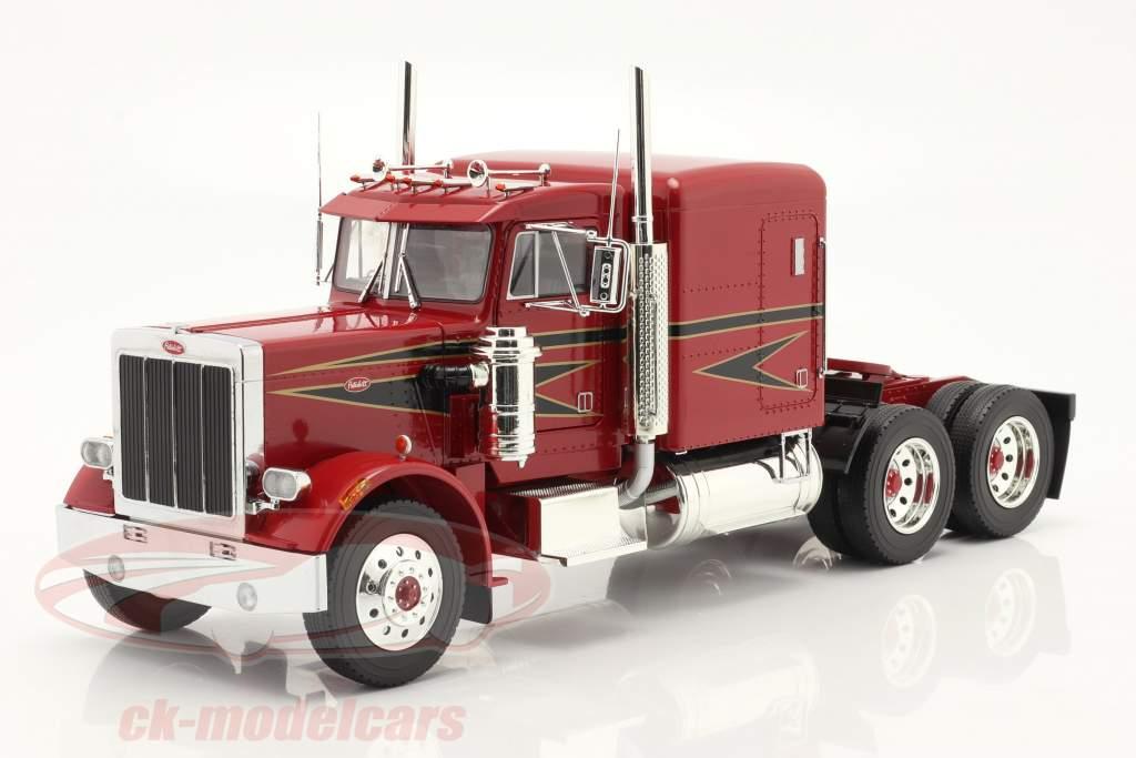 Peterbilt 359 Bull Nose Caminhão 1967 vermelho / Preto 1:18 Road Kings