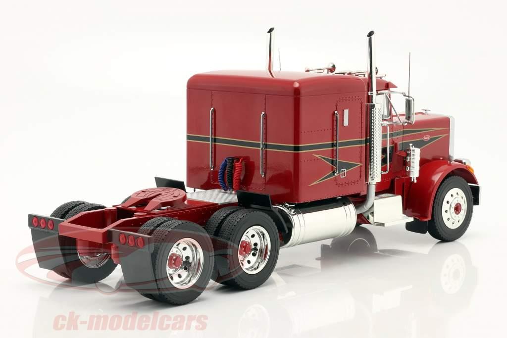 Peterbilt 359 Bull Nose Camión 1967 rojo / negro 1:18 Road Kings