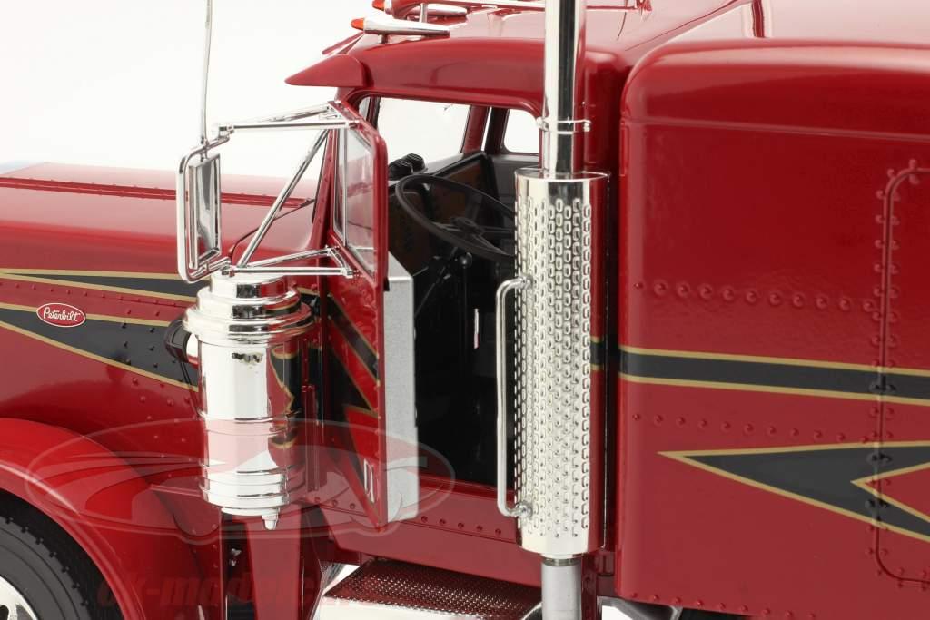 Peterbilt 359 Bull Nose Lastbil 1967 rød / sort 1:18 Road Kings