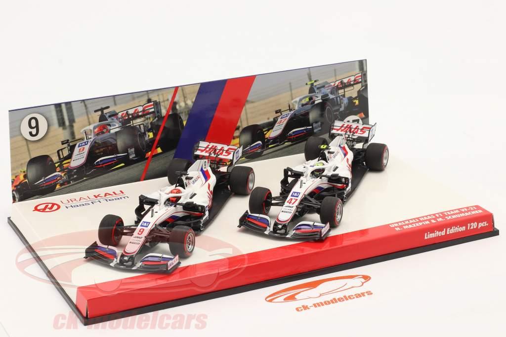Schumacher #47 & Mazepin #9 2-Car Set Haas VF-21 формула 1 2021 1:43 Minichamps