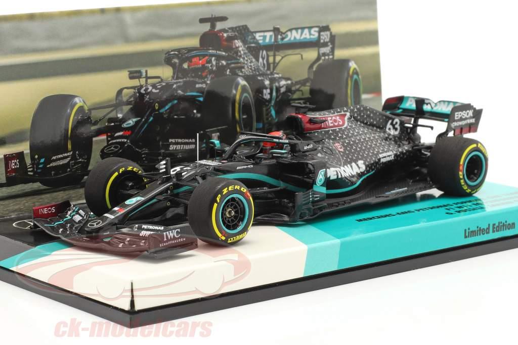 George Russell Mercedes-AMG F1 W11 #63 Sakhir GP Fórmula 1 2020 1:43 Minichamps