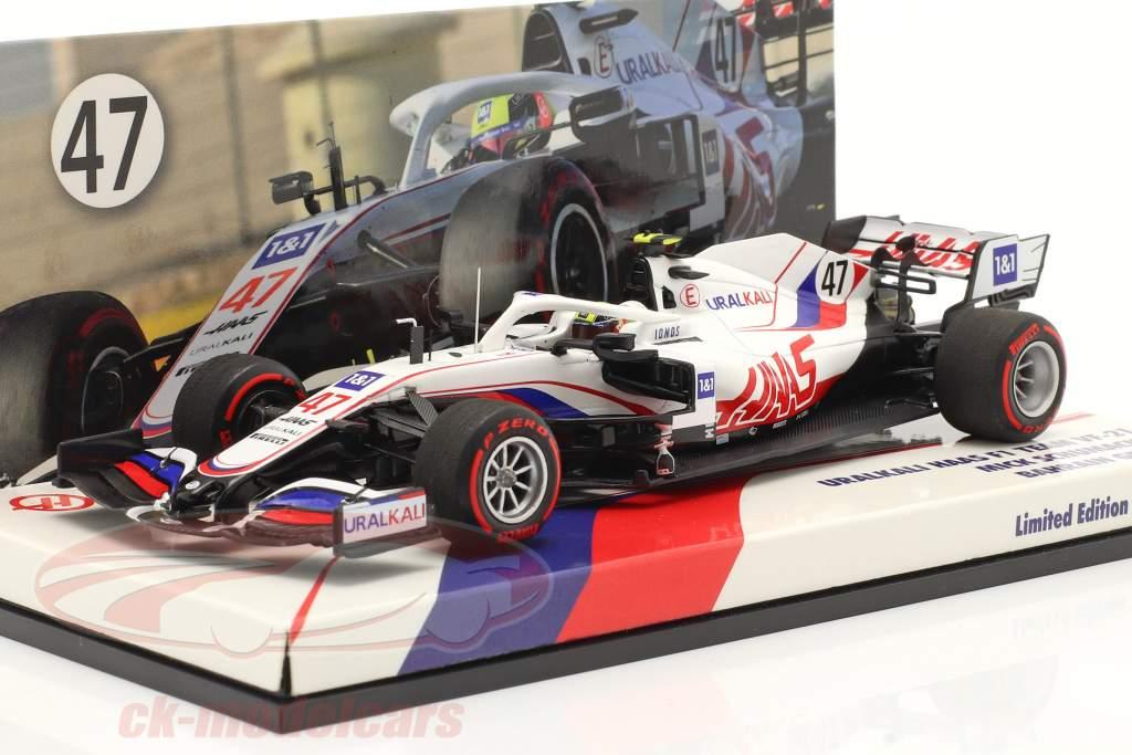 Mick Schumacher Haas VF-21 #47 Bahrain GP Fórmula 1 2021 1:43 Minichamps