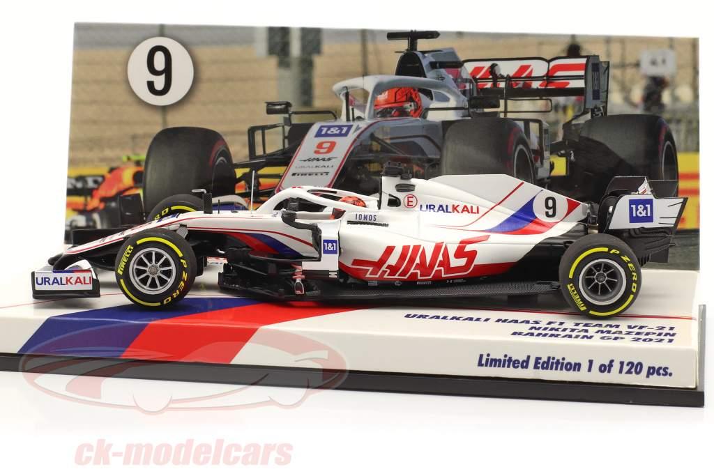 Nikita Mazepin Haas VF-21 #9 Bahreïn GP formule 1 2021 1:43 Minichamps