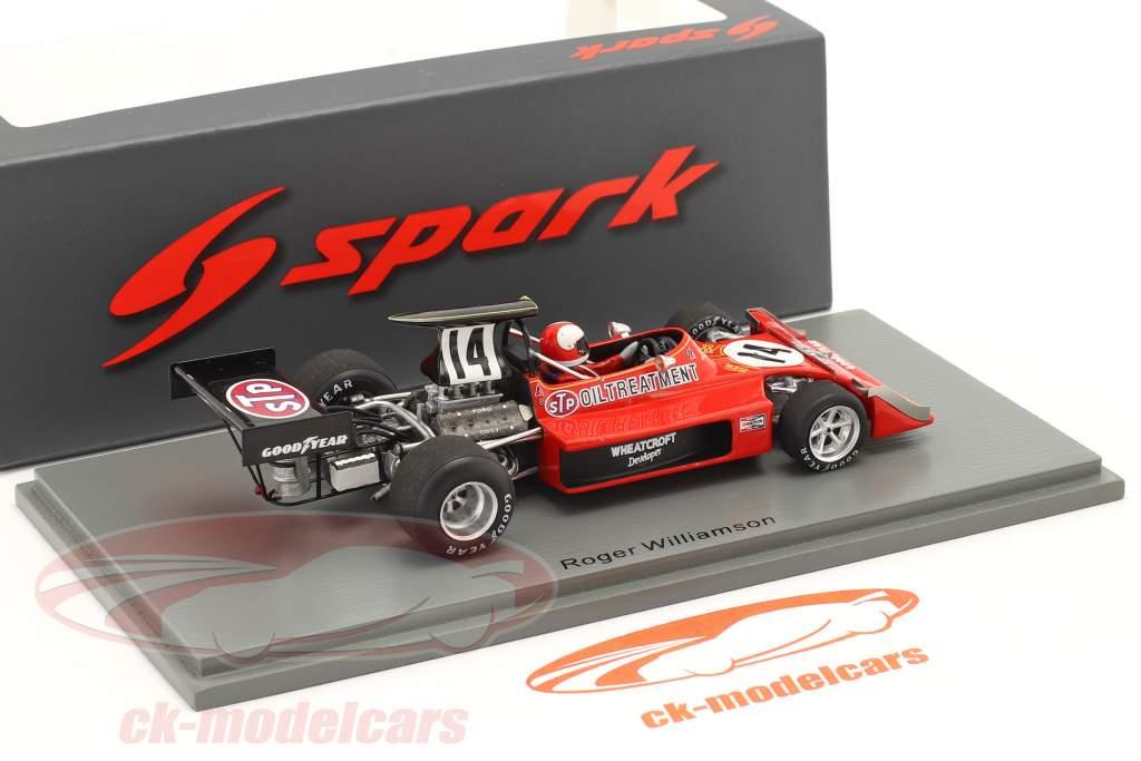 Roger Williamson March 731 #14 Britisk GP formel 1 1973 1:43 Spark
