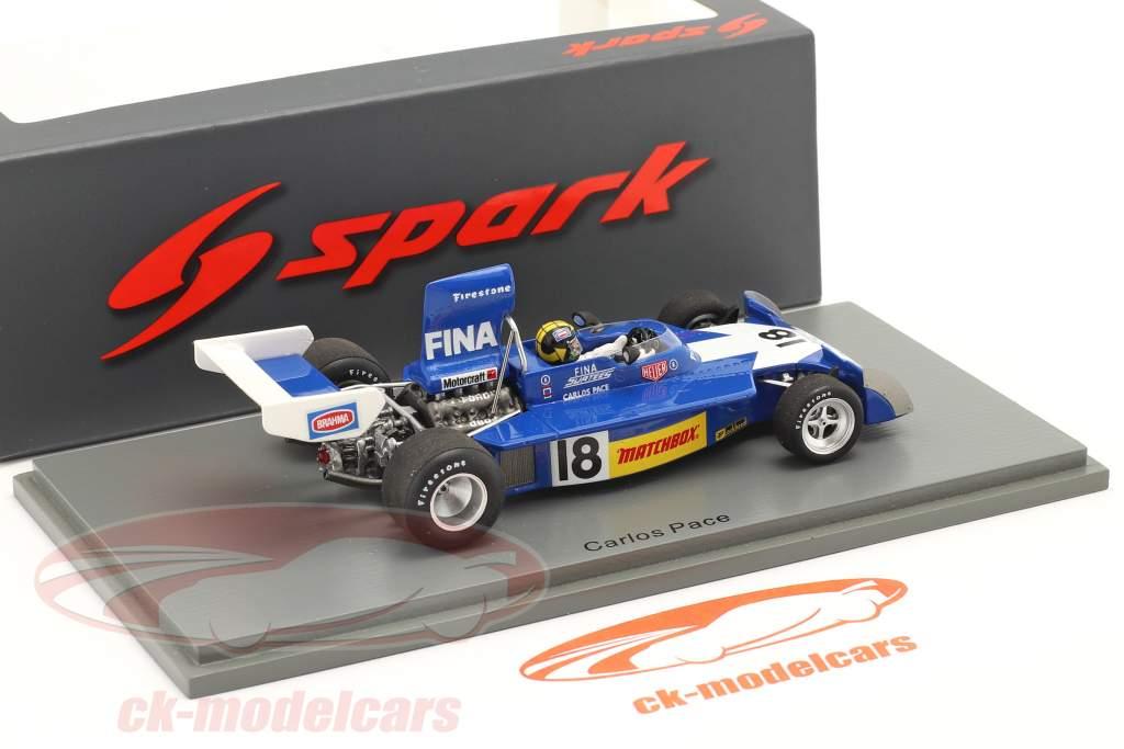 Carlos Pace Surtees TS16 #18 4e brésilien GP formule 1 1974 1:43 Spark