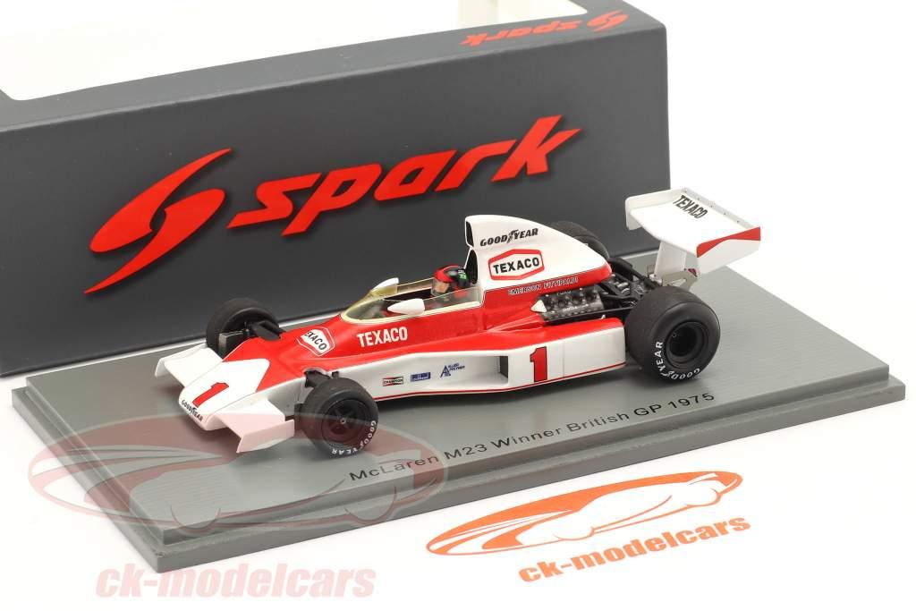 Emerson Fittipaldi McLaren M23 #1 Winnaar Brits GP formule 1 1975 1:43 Spark
