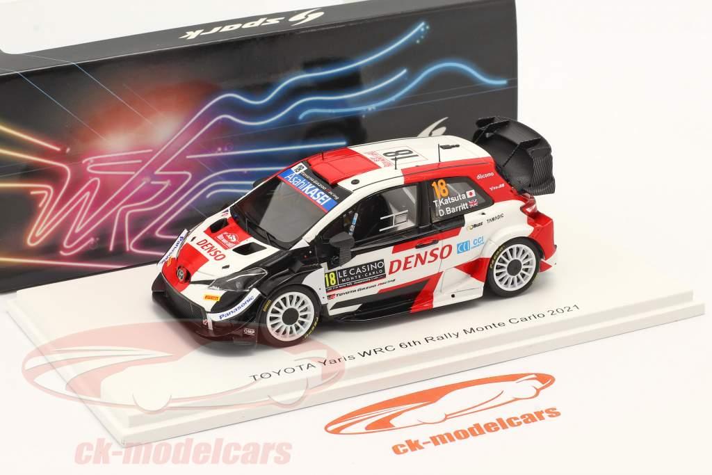 Toyota Yaris WRC #18 6e Rallye Monte Carlo 2021 Katsuta, Barritt 1:43 Spark