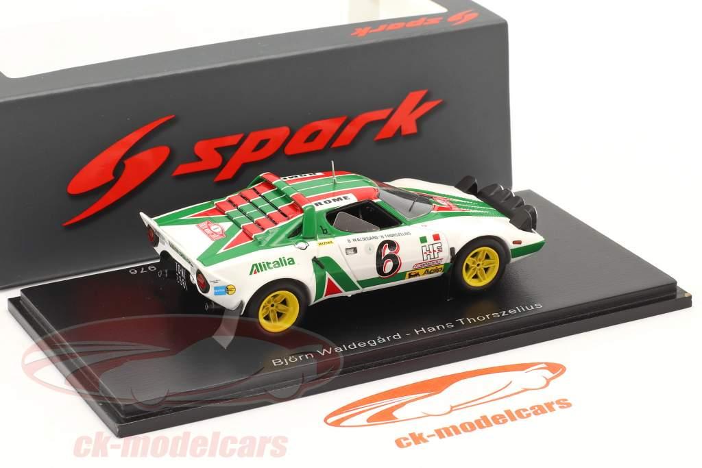 Lancia Stratos HF #6 2nd Rallye Monte Carlo 1976 Waldegard, Thorszelius 1:43 Spark