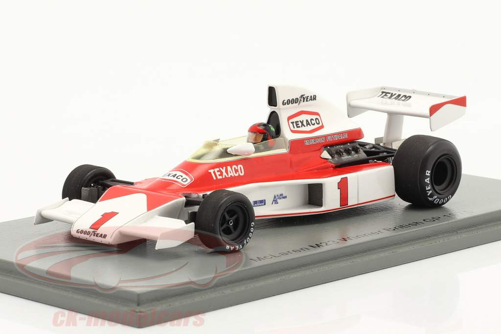 Emerson Fittipaldi McLaren M23 #1 Ganador británico GP fórmula 1 1975 1:43 Spark