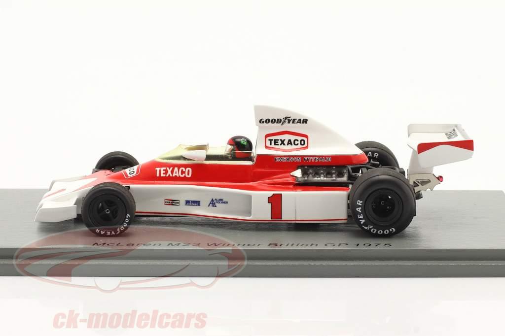 Emerson Fittipaldi McLaren M23 #1 Vinder Britisk GP formel 1 1975 1:43 Spark
