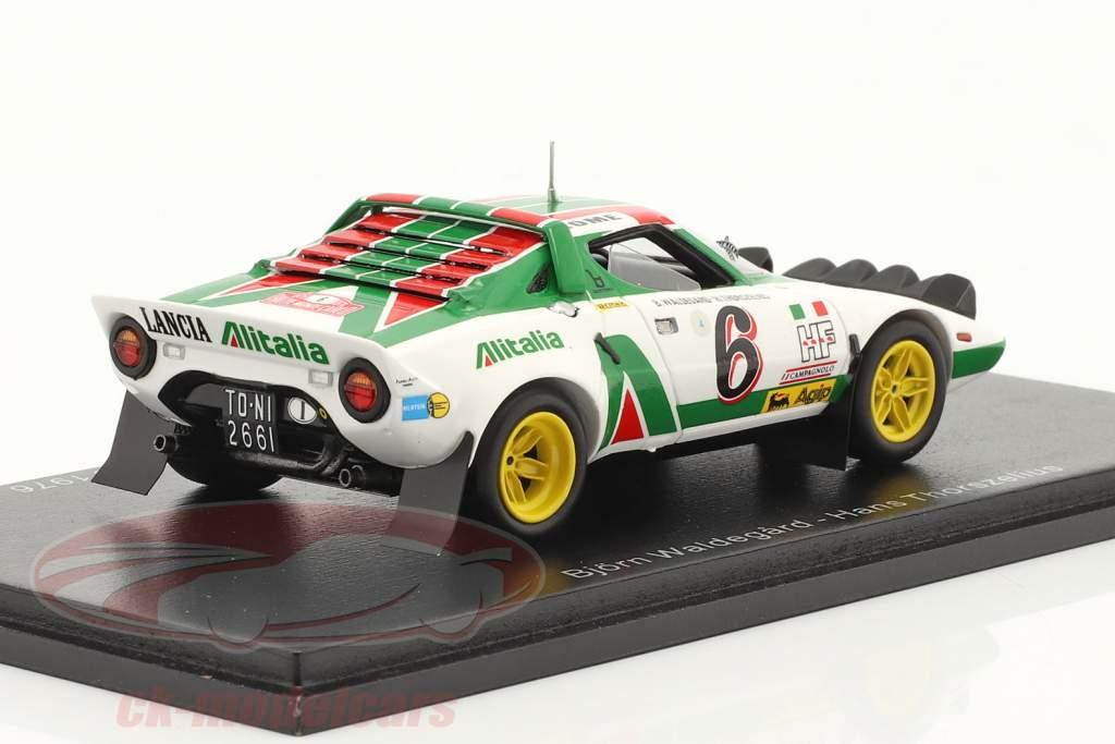 Lancia Stratos HF #6 2. Rallye Monte Carlo 1976 Waldegard, Thorszelius 1:43 Spark