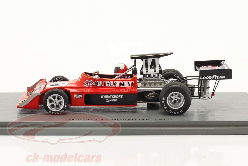 Roger Williamson March 731 #14 britânico GP Fórmula 1 1973 1:43 Spark