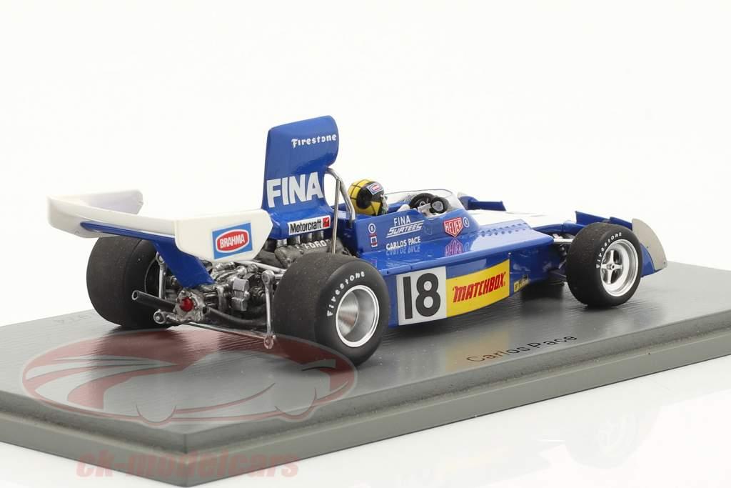Carlos Pace Surtees TS16 #18 4th Brasilien GP Formel 1 1974 1:43 Spark