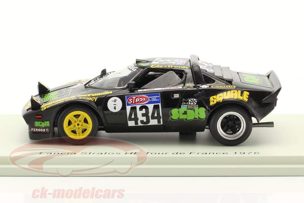 Lancia Stratos HF #434 Rallye Tour de France 1976 Saby, Conconi 1:43 Spark