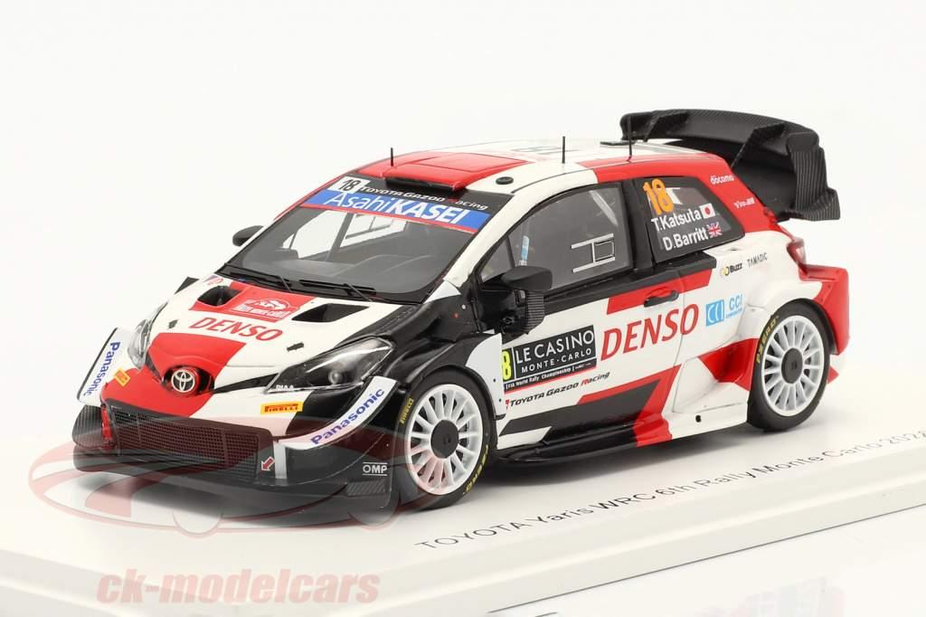 Toyota Yaris WRC #18 Sexto Rallye Monte Carlo 2021 Katsuta, Barritt 1:43 Spark