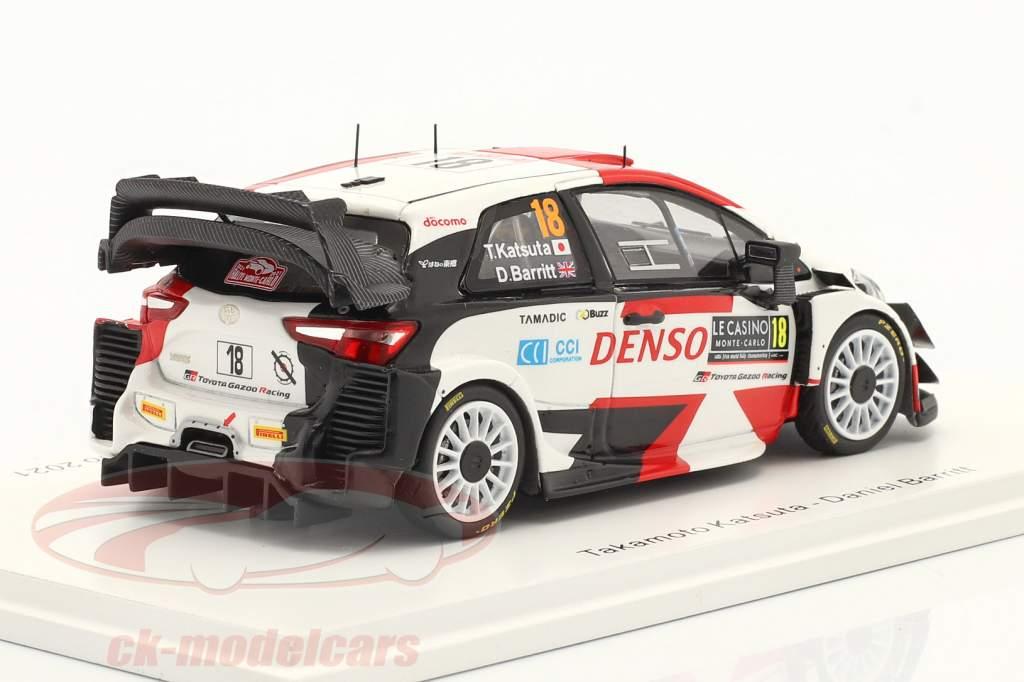 Toyota Yaris WRC #18 6º Rallye Monte Carlo 2021 Katsuta, Barritt 1:43 Spark