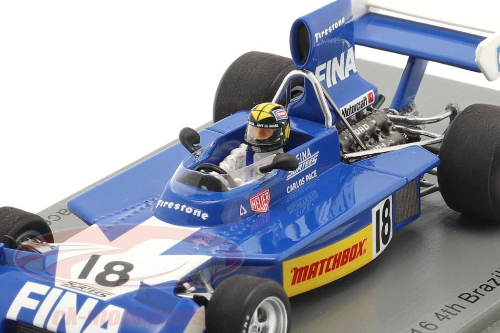 Carlos Pace Surtees TS16 #18 4º brasileiro GP Fórmula 1 1974 1:43 Spark