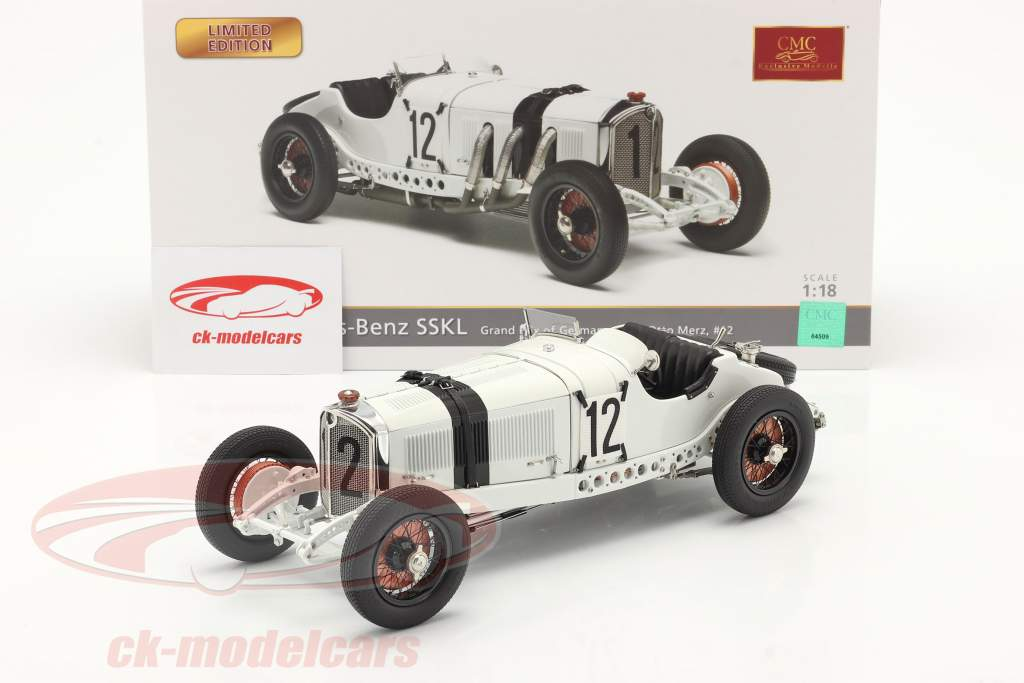 Mercedes-Benz SSKL #12 Quinto Alemania GP 1931 Otto Merz 1:18 CMC