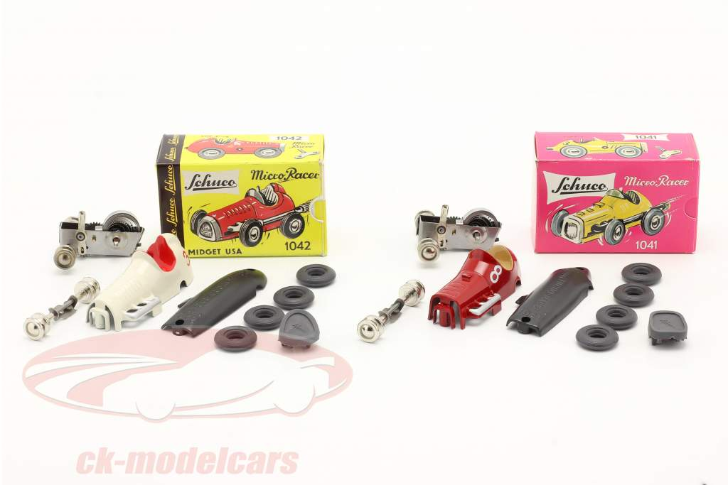 2-Car Micro Racer Montage-Set Midget #8 & #3 1:45 Schuco