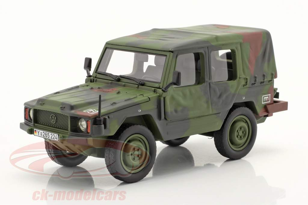 Volkswagen VW Iltis LKW 0,5t let Militær køretøj camouflage 1:35 Schuco