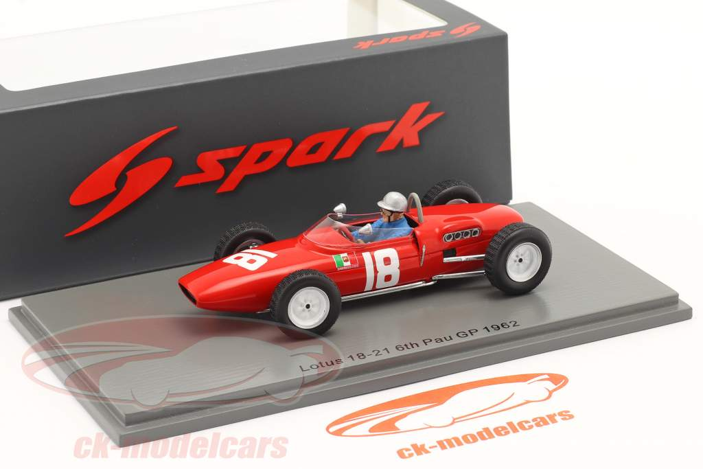 Nino Vaccarella Lotus 18-21 #18 6° GP de Pau 1962 1:43 Spark