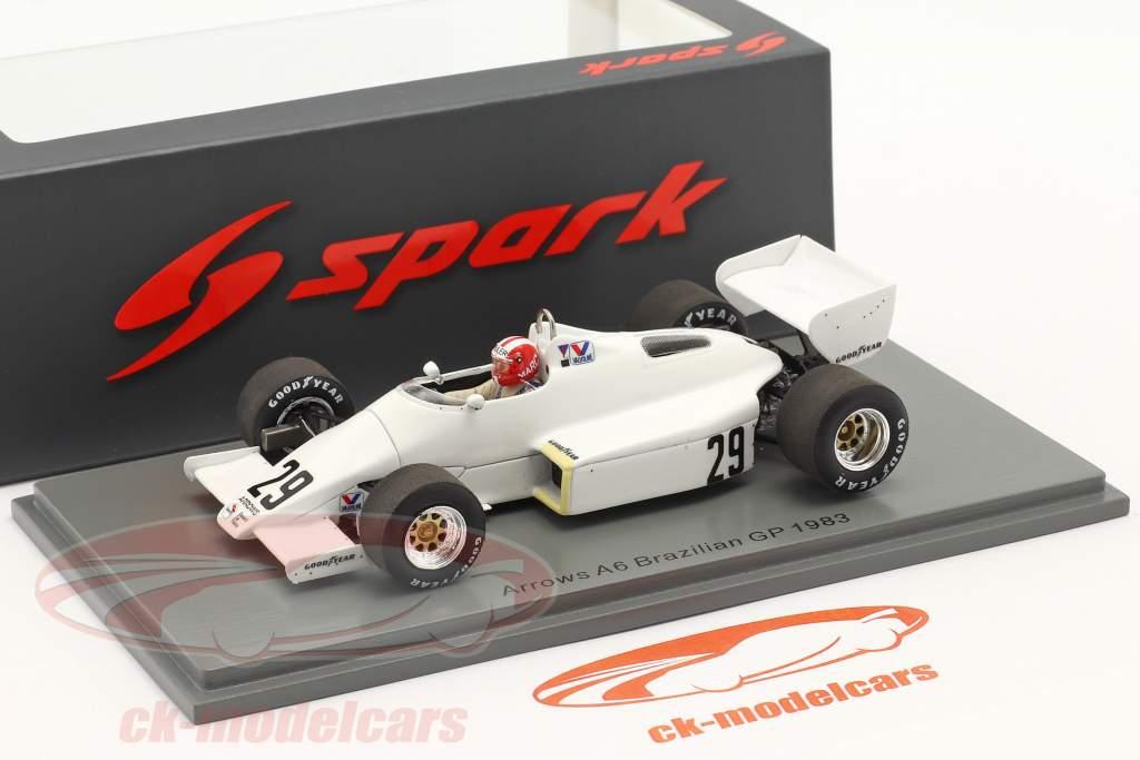Marc Surer Arrows A6 #29 6th Brasilien GP Formel 1 1983 1:43 Spark