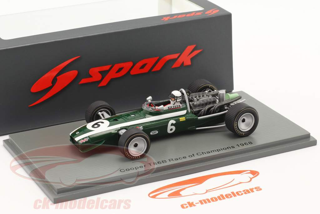 Brian Redman Cooper T86B #6 5th Race of Champions Brands Hatch 1968 1:43 Spark