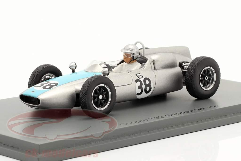Bernard Collomb Cooper T53 #38 Duitse GP formule 1 1961 1:43 Spark