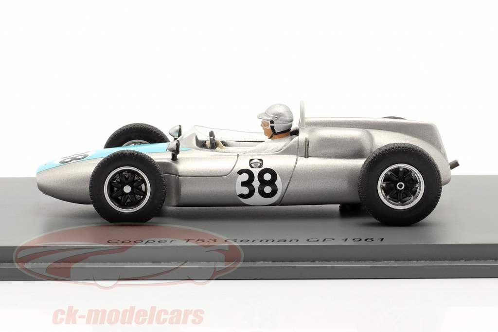 Bernard Collomb Cooper T53 #38 tysk GP formel 1 1961 1:43 Spark